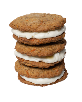 Carrot Cake Sandwich Cookie